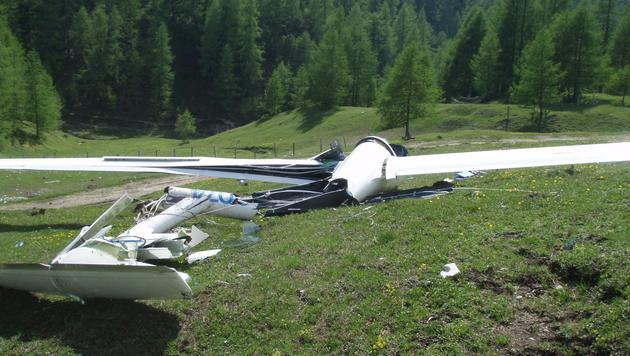 64-Jähriger mit Segelflugzeug abgestürzt (Bild: LPD Kärnten)