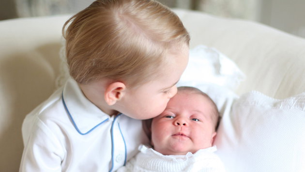 Supersüße Fotos von George und Charlotte (Bild: APA/EPA/DUCHESS OF CAMBRIDGE / HANDOUT)