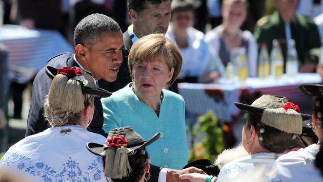 """Obama: """"Als Deutscher würde ich Merkel wählen"""" (Bild: APA/EPA/DANIEL KARMANN/POOL)"""