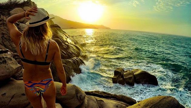 Urlaub in Kolumbien: Julia Mancuso genießt den Sonnenuntergang. (Bild: instagram.com/Julia Mancuso)
