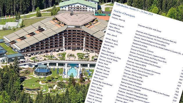 Die Gäste des mysteriösen Bilderberg-Treffens (Bild: ZEITUNGSFOTO.AT/DANIEL LIEBL, www.bilderbergmeetings.org)