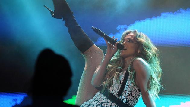 Jennifer Lopez bei ihrem Auftritt in Marokko (Bild: AP)