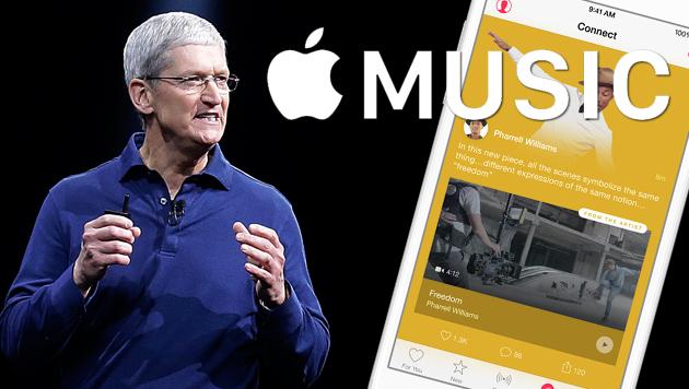 Startschuss für Apples neuen Musikdienst (Bild: AP, Apple, krone.at-Grafik)