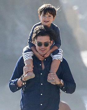 Daddy Cool Orlando Bloom mit Son Flynn (Bild: Viennareport)