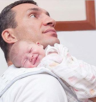 Wladimir Klitschko mit seiner süßen Tochter Kaya (Bild: Viennareport)