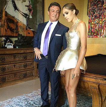 Sylvester Stalloen ist wahnsinnig stolz auf seine schöne Tochter Sistine. (Bild: Viennareport)