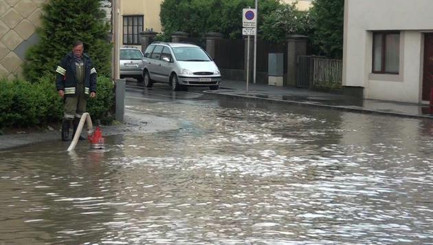 Feuerwehreinsätze in NÖ nach starken Regenfällen (Bild: Einsatzdoku.at)