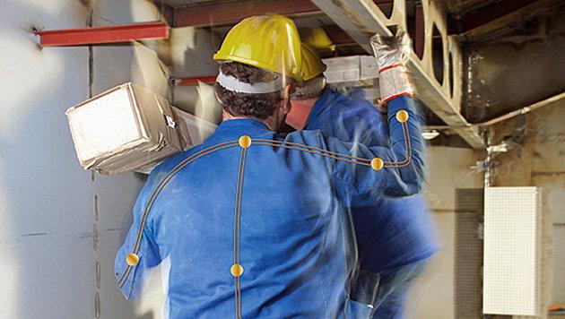 Sensoranzug soll Fehlhaltungen im Beruf erkennen (Bild: MEYER WERFT GmbH)