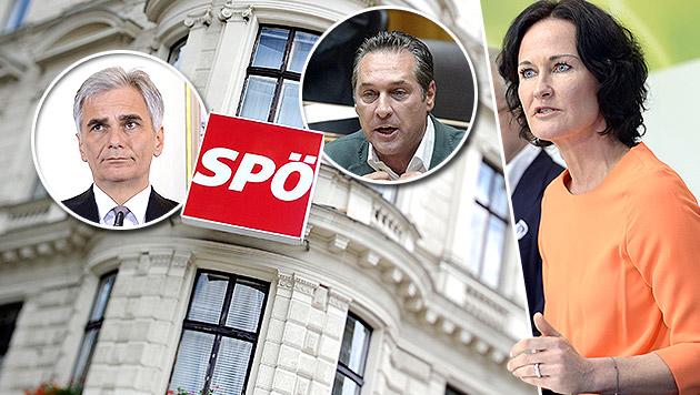 """""""Strache-Schönreden in Bundes-SPÖ nur Zeitfrage"""" (Bild: APA/HANS KLAUS TECHT, APA/ROLAND SCHLAGER,)"""