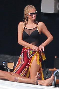 Paris Hilton auf der Jacht von Gross (Bild: Viennareport)