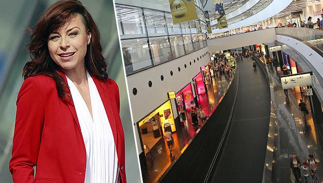 ATV-Star Elisabeth Auer wurde am Wiener Flughafen zum Kreuzverhör zitiert. (Bild: Gerhard Gradwohl, Peter Tomschi)
