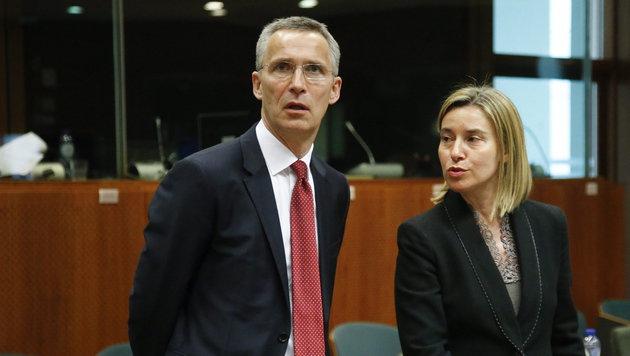 Jens Stoltenberg, Ex-Premier Norwegens, ist seit Oktober 2014 NATO-Generalsekretär. (Bild: EPA/OLIVIER HOSLET)
