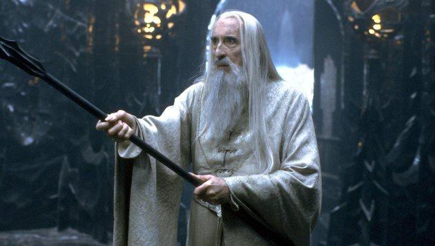 """Christopher Lee als Saruman in """"Der Herr der Ringe"""" (Bild: Viennareport)"""
