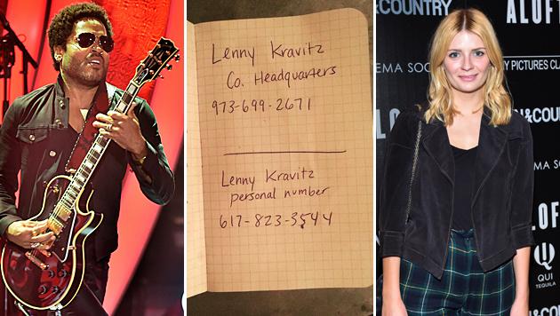 """Echt oder Fake? Mischa Barton veröffentlichte Lenny Kravitz"""" Telefonnummern. (Bild: APA/EPA/ULI DECK, Viennareport, Scott Roth/Invision/AP)"""