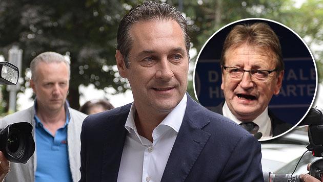 """Nach Absetzung: Schnell nennt Strache """"Diktator"""" (Bild: APA/BARBARA GINDL, APA/FRANZ NEUMAYR)"""