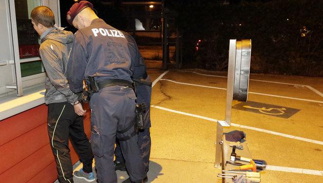 """Vermummter Einbrecher auf """"Krone""""-Dach gefasst (Bild: Klemens Groh)"""
