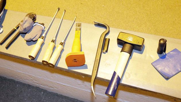 Dieses Werkzeug hatte der Mann bei sich. (Bild: Klemens Groh)