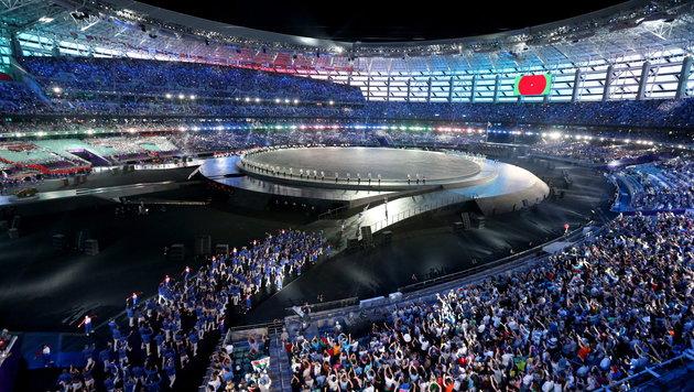 Europaspiele von Staatspräsident Alijev eröffnet (Bild: APA/EPA/ZURAB KURTSIKIDZE)