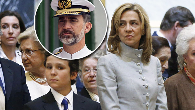 König Felipe erkennt seiner Schwester Titel ab (Bild: JUAN CARLOS HIDALGO/EPA/picturedesk.com))
