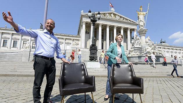 NEOS-Parteichef Matthias Strolz mit der stellvertretenden Klubobfrau Beate Meinl-Reisinger (Bild: APA/Hans Klaus Techt)