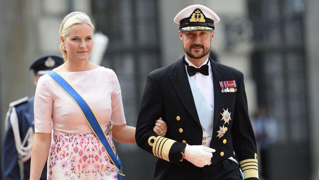 Das norwegische Kronprinzenpaar Haakon und Mette-Marit (Bild: AFP/JONATHAN NACKSTRAND)