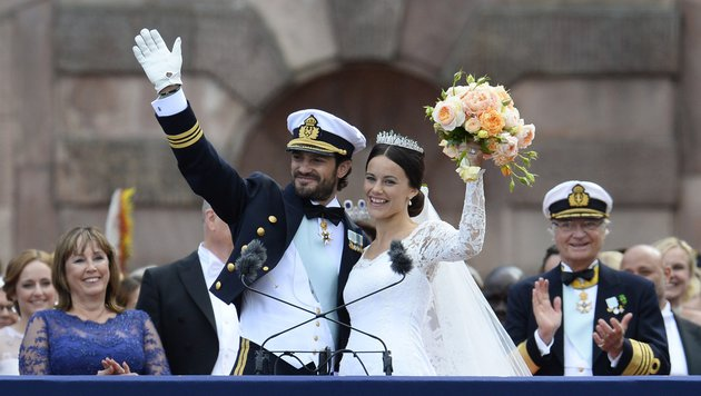 Carl Philip und Sofia (Bild: AFP/JONATHAN NACKSTRAND)