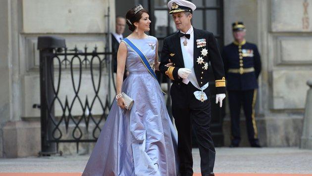 Kronprinzessin Mary und Kronprinz Frederik von Dänemark (Bild: AFP JONATHAN NACKSTRAND)