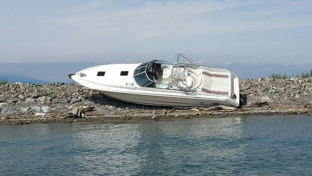 Verlassenes Motorboot löst große Suchaktion aus (Bild: APA/ÖWR/KLAUS LAENGLE)