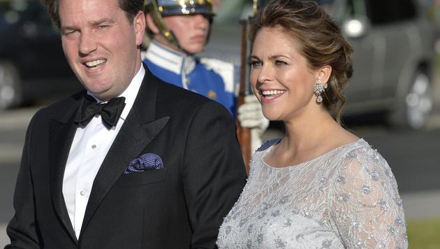 """Prinzessin Madeleine und Chris O""""Neil sind zum zweiten Mal Eltern geworden. (Bild: AP)"""