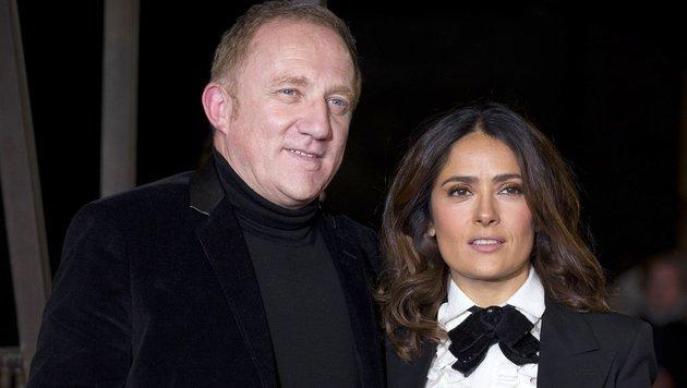 Salma Hayek ist seit 2009 mit dem französische Geschäftsmann François-Henri Pinault verheiratet. (Bild: AFP)