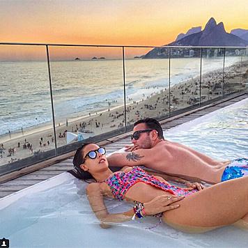 Alessandra Ambrosio genießt den Sonnenuntergang in Rio. (Bild: instagram.com/alessandraambrosio)