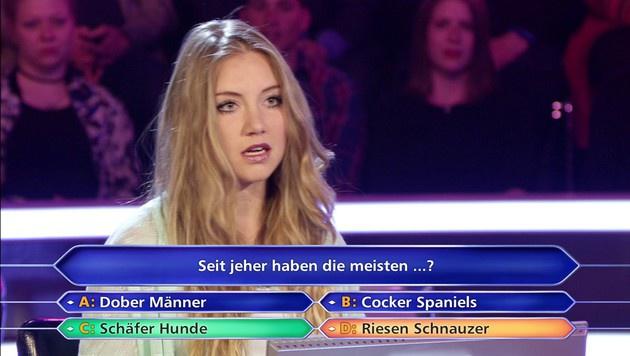 Kandidatin Tanja Fuß scheiterte an der 50-Euro-Frage. (Bild: RTL)