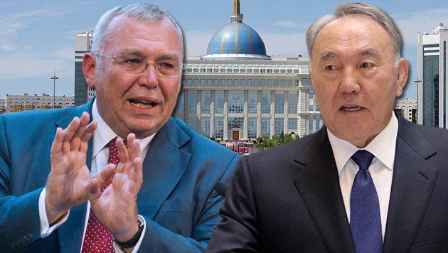 Kasachstan-Präsident Nasarbajew soll unserem Ex-Kanzler 33.333 €/Monat für Lobbying gezahlt haben. (Bild: AP, dpa, APA/EPA/IGOR KOVALENKO)