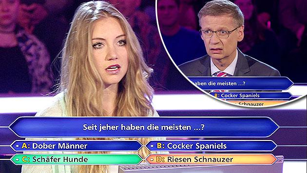 Jauch-Kandidatin scheitert an 50-Euro-Frage (Bild: RTL)
