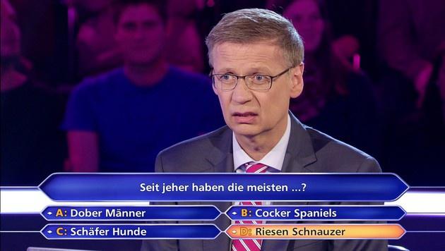 Günther Jauch konnte es nicht fassen... (Bild: RTL)