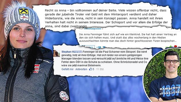 """""""Anna Fenninger ist Paul Scharner vom Skisport"""" (Bild: GEPA, krone.at)"""