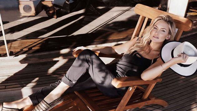 Kate Hudson ist auch als Model erfolgreich und wirbt immer wieder für Modemarken. (Bild: Viennareport)