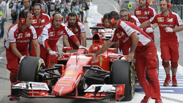 """Super-Seb"" Vettel krallt sich im Ferrari Bestzeit (Bild: APA/HANS KLAUS TECHT)"