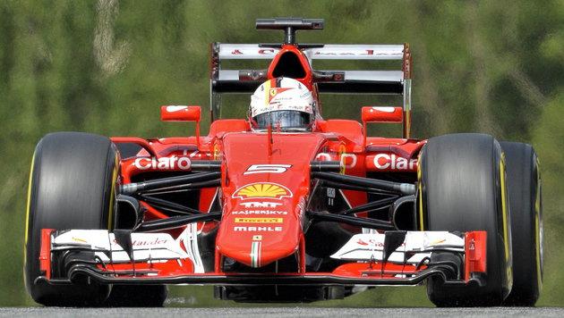 """""""Super-Seb"""" Vettel krallt sich im Ferrari Bestzeit (Bild: APA/EPA/HERBERT NEUBAUER)"""