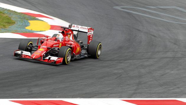 """""""Super-Seb"""" Vettel krallt sich im Ferrari Bestzeit (Bild: APA/EPA/ERWIN SCHERIAU)"""