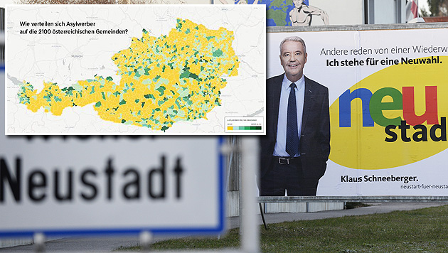 Wiener Neustadt: FPÖ droht, Regierung zu sprengen (Bild: APA/ROBERT JAEGER, twitter.com/KlausSchwertner)