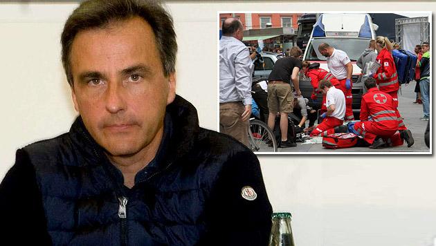 """Grazer BM Nagl: Amokfahrer """"hat mich anvisiert"""" (Bild: APA/ELMAR GUBISCH, Christian Jauschowetz)"""