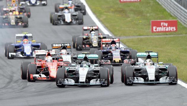 Rosberg feiert erneut Triumph bei Spielberg-GP (Bild: APA/HANS KLAUS TECHT)