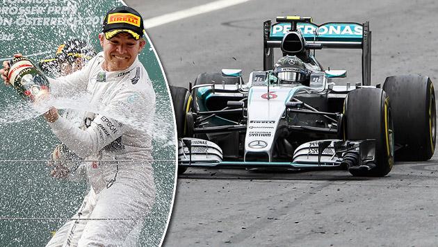 Rosberg feiert erneut Triumph bei Spielberg-GP (Bild: APA/HANS KLAUS TECHT, APA/ERWIN SCHERIAU)