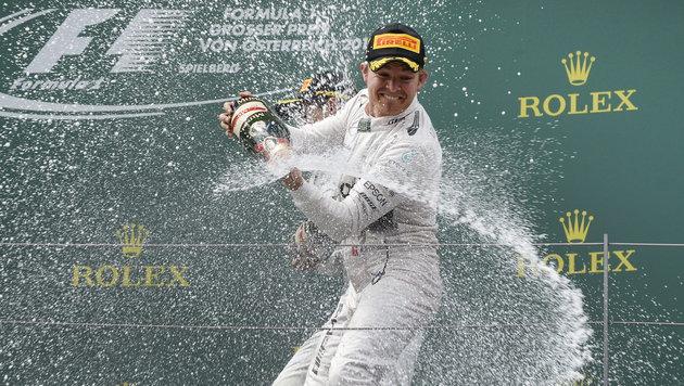 Rosberg feiert erneut Triumph bei Spielberg-GP (Bild: APA/EPA/HANS KLAUS TECHT)