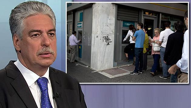 """Schelling: """"So etwas würde keine Bank aushalten"""" (Bild: tv.thek.orf.at, AP)"""