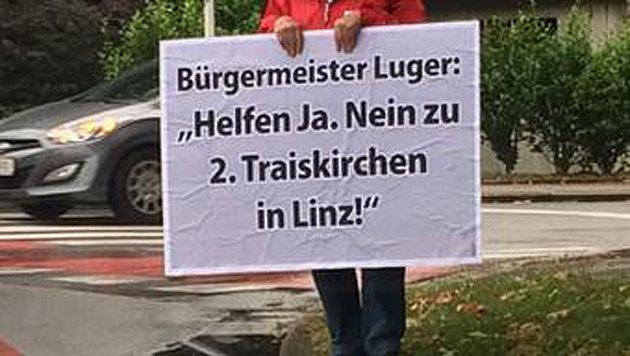 Linzer SPÖ empört mit Aktion zu Asyl-Quartieren (Bild: Twitter//Sonja Ablinger)