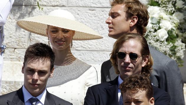 Beatrice Borromeo und Pierre Casiraghi bei der Taufe der Monaco-Zwillinge (Bild: APA/EPA/SEBASTIEN NOGIER)