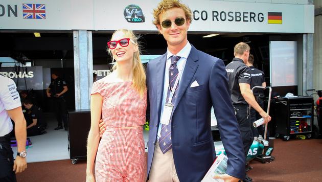 Beatrice Borromeo und Pierre Casiraghi beim Formel-1-Rennen in Monaco (Bild: Viennareport)