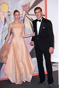 Beatrice Borromeo und Pierre Casiraghi beim 60. Rosenball 2014 in Monaco (Bild: Viennareport)
